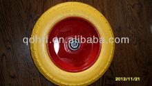 pu 350-8 trolley rubber pu solid barrow wheels