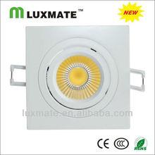 6w aluminum led downlight cob square
