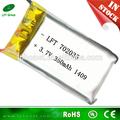 özel lipo pil 3.7V 350 mah 702035 lityum pil