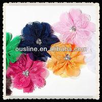 vintage chiffon mesh flower,wholesale hair accessories
