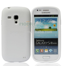 milk white a class TPU polyurethane cell phone cover for Samsung galaxy SIII Mini, high end soft gel phone cover casing