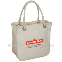 Organic Cotton Tote Bag with two rope style handles