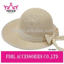 FH - 0027Fashion paper fabric equestrian straw hat
