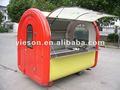 Té de la burbuja del quiosco carrito ys-bf230/quioscos de café para la venta de alimentos de la máquina expendedora de hielo diseño del carro