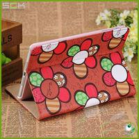 Luxury sun flower case for ipad mini stand case