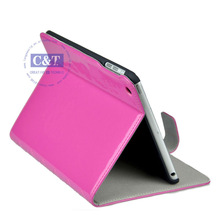 Fashionable style pink smart cover hard case for ipad mini