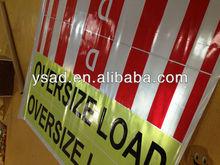 oversize load sign,reflective oversize load sign,overweight load sign,overdimensional or D signs,D banner for oversized loads