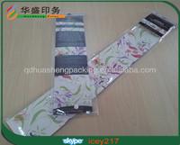 New design custom plastic packaging bag for hair extension