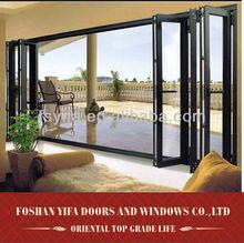 hot sale balcony glass double glazing aluminium bifold door
