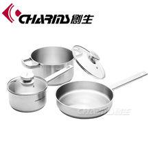 kitchenware parts with mikl pan, frying pan, sauce pot