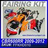 For HONDA 2009 2010 2011 2012 CBR600RR CBR 600RR fairing