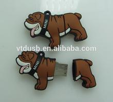 Dog tag USB pen drive pen,Bulk USB dog pen Penna usb 4gb riproduzione del celebre bulldog legato alla prestigiosa mini coopers