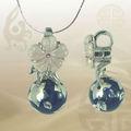 funky colorido precioso cloisonne ebay flores collar de plata