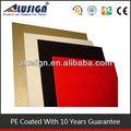 Cepillo de acabado aluminio panel compuesto de plástico / 4 mm panel compuesto de aluminio