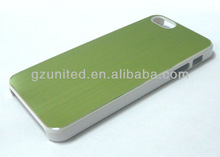 PC frame+ brushed aluminum mettalic cell phone case cover for iPhone 5 5s