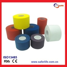 2014 breathable porous athletic sports strapping pe vollyball tennis golf printed cotton personalized bandage