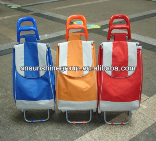 Folding shopping trolley, shopping trolley cart, travel luggage cart