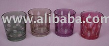 Etched glass Votive/ T-light holders
