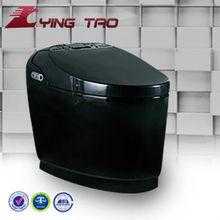 bathroom ceramic intelligent S-trap toilet black color toilet