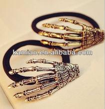 vintage hair accessory claws elastic wrist band black elastic hair band