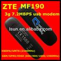 Zte MF190 controlador del módem, 3 g dongle MF190 mini usb