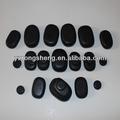 relaxar quente preto polido sal do himalaia natural basalto massagem facial de pedra para venda