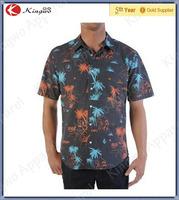 Wholesale Fashion Short Sleeve Button Down Shirts/Hawaiian Shirts