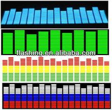 2014 Hot selling equalizer el car sticker/Wholesale Multi Color Sound Activated sticker