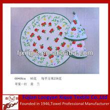 round reactive printed kitchen pad towel
