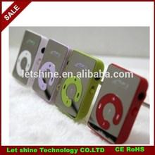 Mini Clip Mp3 Player,sport Mirror Mp3, TF card support