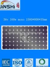 TUV certified 160w mono solar module panels for solar power generator