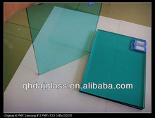 CE EN124543 cheap high quality ocean blue .38mm laminated glass