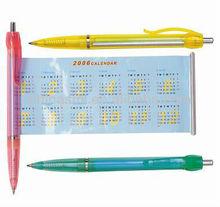 wholesale double-deck plastic calendar pull paper pen