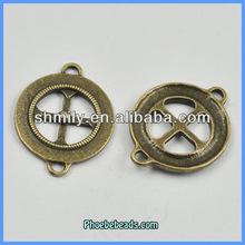 Wholesale Two Hole Zinc Alloy Cross Jewelry Connector PB-A18095