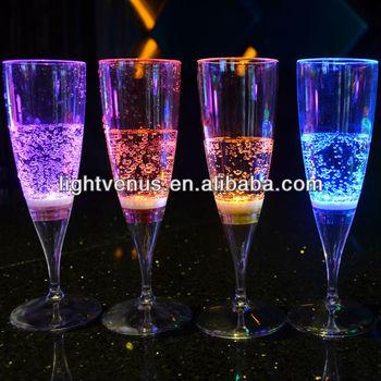 Factory sale Romantic liquid active LED Glass