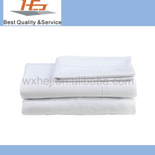Hot Selling 100% Cotton Hotel White Plain Bedsheet
