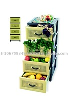 plastic storage drawers with 4 layer