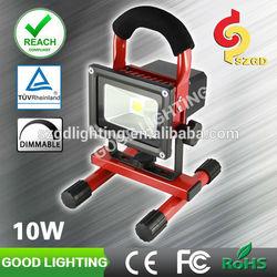 Good lighting 10W outdoor led flood lamp aluminum led light rechargeable emergency light