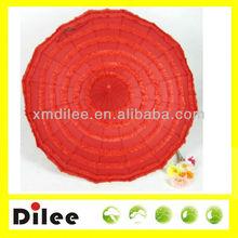 red cake shaped lace wedding parasol craft umbrella