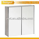 Two-door triangle bathroom mirror cabinets