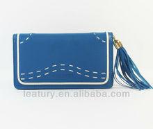 fashion ladies leather wallet genuine woman's leather handbags