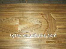 SC natural teak wood veneer hdf door skin