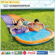 super market supplier popular children outdoor inflatable double water slide