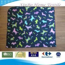 Jiande Cute OEM Animal Printed Summer Polar Fleece Throw/Blanket for Kids
