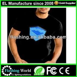 High brightness 100% cotton LED t-shirt