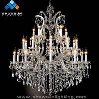 21 lights silver LED home chandelier light