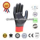 QL Cheap Nylon Nitrile Industry Gloves Oil proof gloves