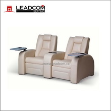 (LS-811) Leadcom leather electric sofa for home cinema