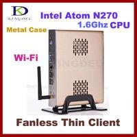 NEW Fanless stand alone Thin Client Computer, Mini PC with Intel Atom N270 1.60Ghz, 1GB RAM, 8GB SSD, 32 Bit, WiFi, 720P HD