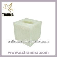 Wholesale transparent resin tissue box for car,home,hotel.restaruant etc